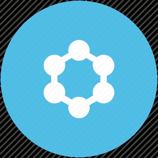 atom circles, carbon, cell, molecular configuration, molecule structure, nitrogen, oxygen icon