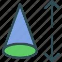 cone, geometry, height, triangle