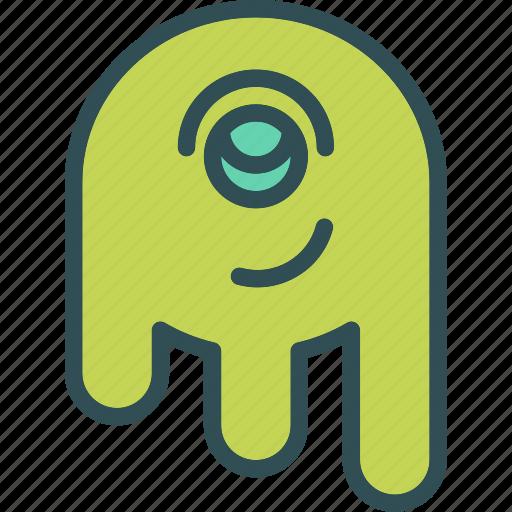 alien, monster, space, stranger, visitor icon