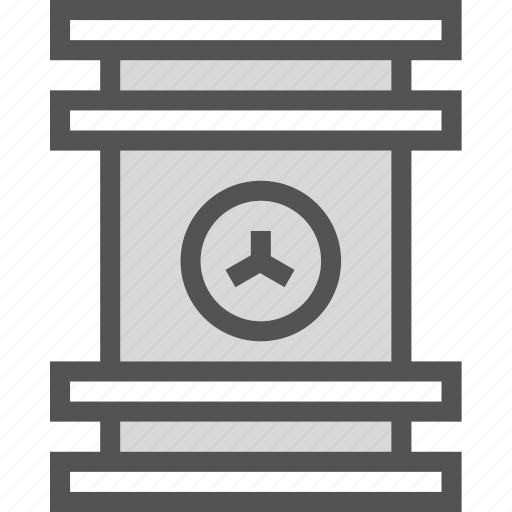 barrel, caution, container, danger, laboratory, radiation icon