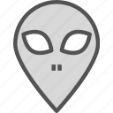 alien, avatar, monster, space, stranger, visitor icon