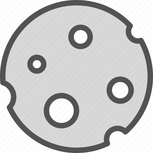 cheese, moon, planet, universe icon