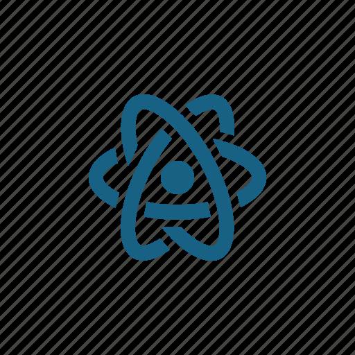 atom, electron, molecule, particle, science icon