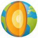 earth, geology, globe, planet, research, science icon
