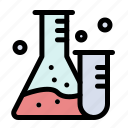 flask, lab, science, tube