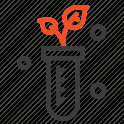 lab, plant, science, tube icon