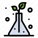 flask, science, trees icon