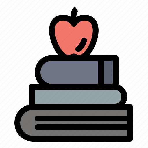Apple, books, education, science icon - Download on Iconfinder