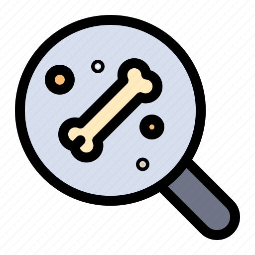 bone, science, search icon