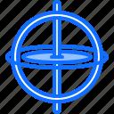 chemistry, gyroscope, laboratory, physics, science icon