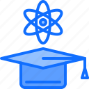 cap, chemistry, education, graduation, laboratory, physics, science icon
