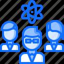 chemistry, laboratory, physics, science, scientist, team icon