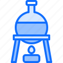 burner, chemistry, fire, flask, laboratory, physics, science icon