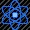 atom, chemistry, laboratory, nucleus, physics, science icon