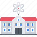 building, chemistry, institute, laboratory, physics, science icon