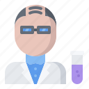 chemistry, laboratory, man, physics, science, scientist icon