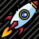 creativity, idea, innovation, launch, rocket, start, up