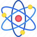 atom, atomic, education, electron, nuclear, physics, science icon