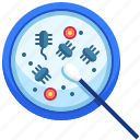 bacteria, bacteriology, bacterium, cell, coronavirus, scientist, virus icon