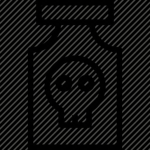 bones, bottle, danger, head, human, meds, skull icon