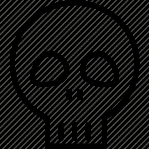 bones, head, human, skull icon