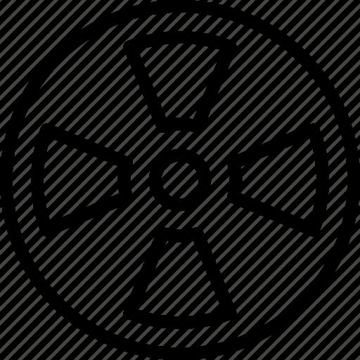 danger, laboratory, radiation, sign icon