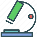 microscope, observe, research icon