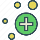 medicalcrosscircles, spread, structure icon
