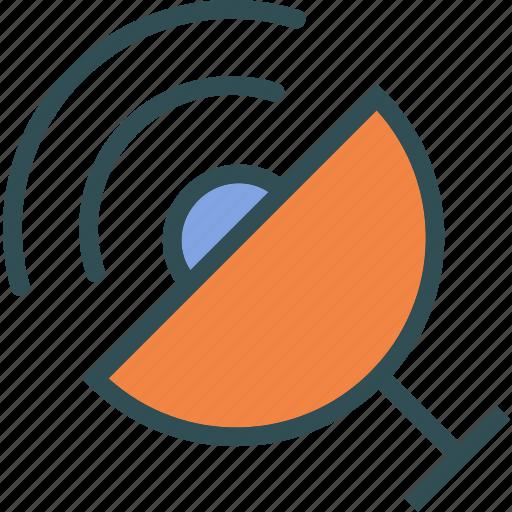 dish, observer, radio, satellite, signal icon