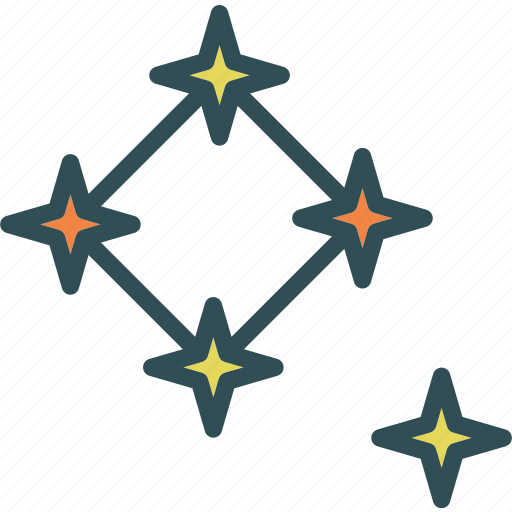 constelation, space, star, universe icon