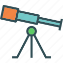 s, space, star, telescope, universe, view icon