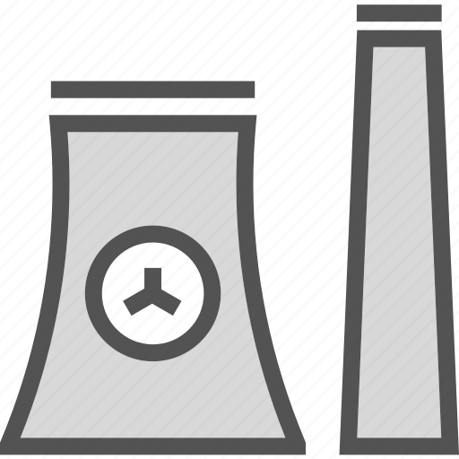factory, nuclear, tower icon