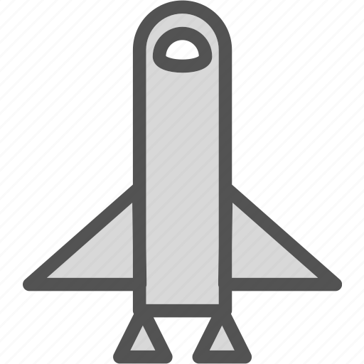 rocket, ship, space, travel icon