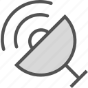 dish, observer, radio, satellite, signal icon