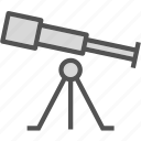 observe, space, star, telescope, universe, view icon