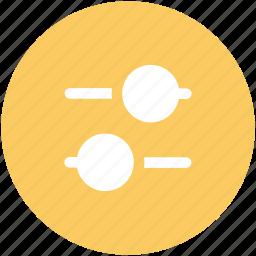audio mixer, equalizer, horizontal adjuster, leveler, mixing console, options, sound settings icon