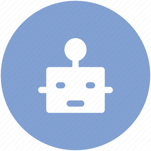 automaton, bionic robot, cyborg, mechanical man, robot, robot face, robotic machine icon