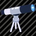 telescope, research equipment, spy glass, optical lens, space telescope