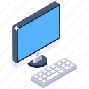 computer lcd, led, computer accessory, display computer, personal computer icon