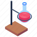 beaker, erlenmeyer flask, flask, flask stand, lab equipments icon