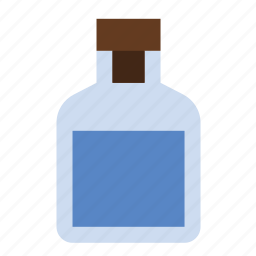 bottle, liquid, mixture, science icon