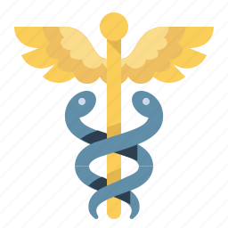 caduceus, mercury, science, snake, wings icon