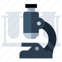 microscope, science, test, tubes icon