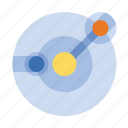 orbit, planets, science icon