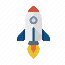 launch, rocket, science icon