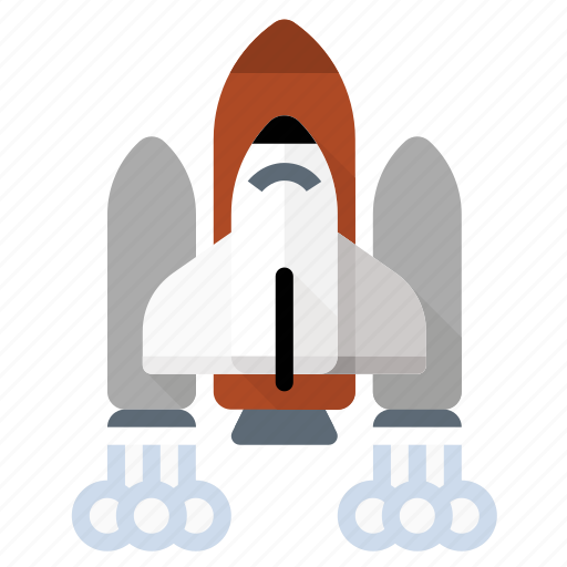 launch, rocket, science, shuttle, space icon