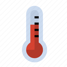 heat, science, thermometer icon