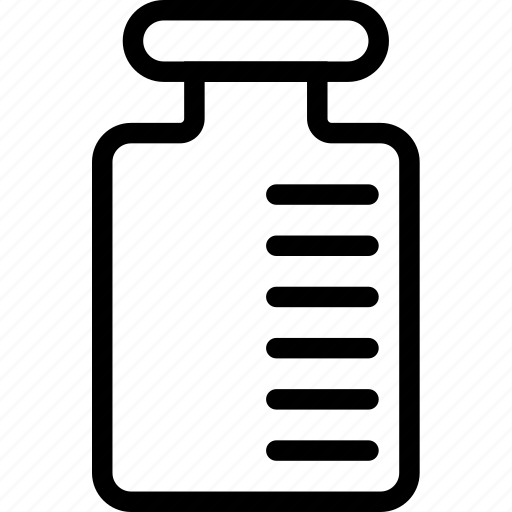 chemistry, container, flask, graded, science icon