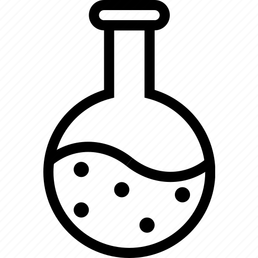 chemistry, experiment, flask, lab, round, science icon