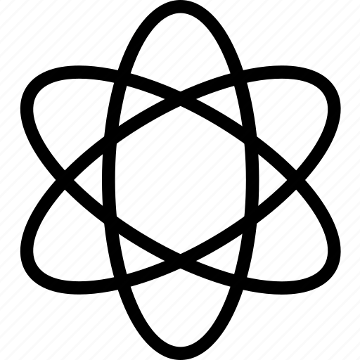 atom, plain, science icon